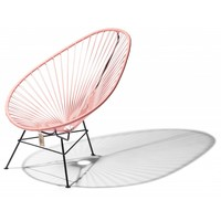 Acapulco Lounge Chair Black/Pink Salmon