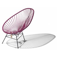 Acapulco Lounge Chair Black/Wine Red