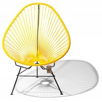 Acapulco Lounge Chair Black/Yellow