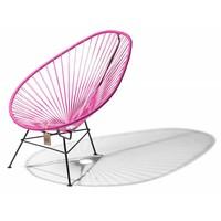 Acapulco Lounge Chair Black/Fuchsia