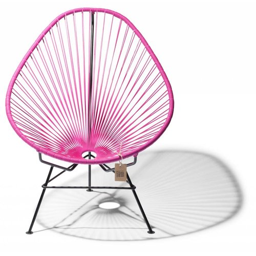 Acapulco Lounge Chair Black/Fuschia
