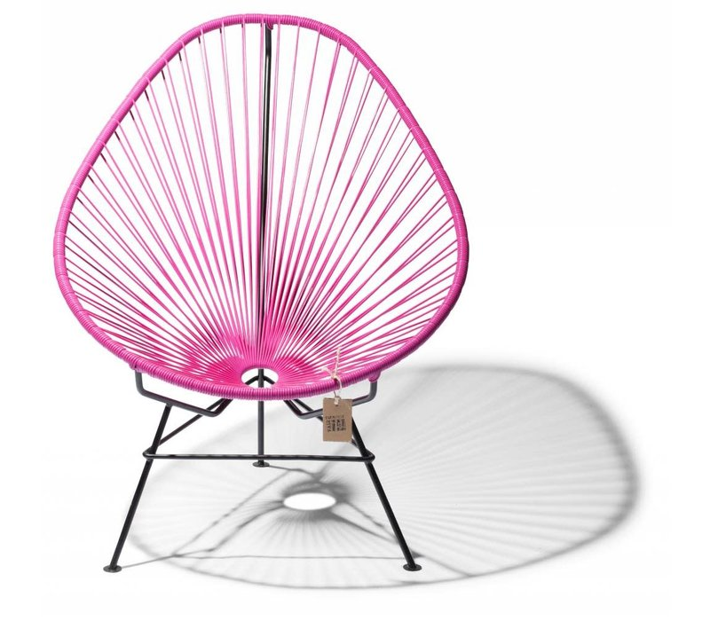 Acapulco Lounge Chair Black/Fuschia