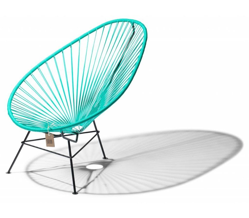 Acapulco Lounge Chair Black/Turquoise