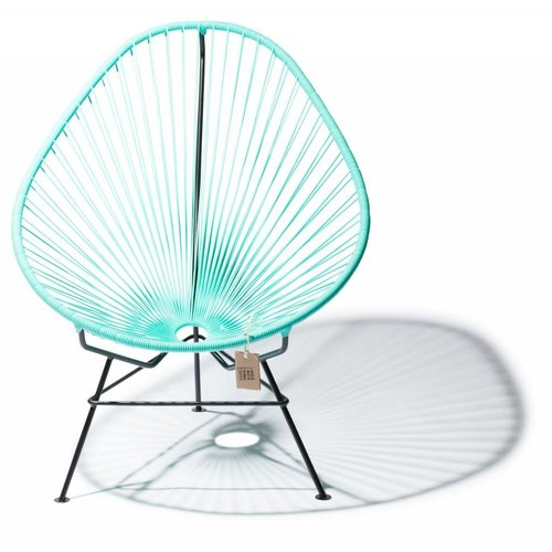 Acapulco Lounge Chair Black/Light Turquoise