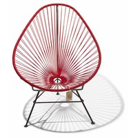 Acapulco Lounge Chair Black/Red