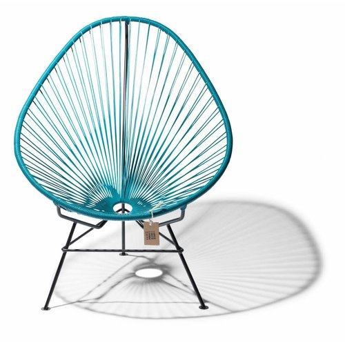 Acapulco Lounge Chair Black/Petrol Blue