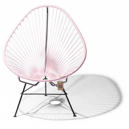 Acapulco Lounge Chair Black/Pastel Pink
