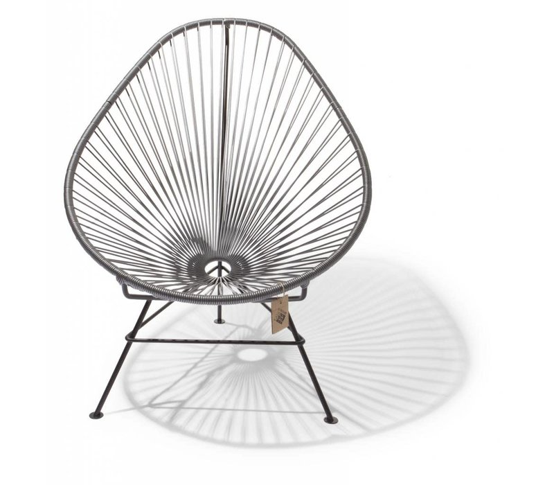 Acapulco Lounge Chair Black/Silver Grey
