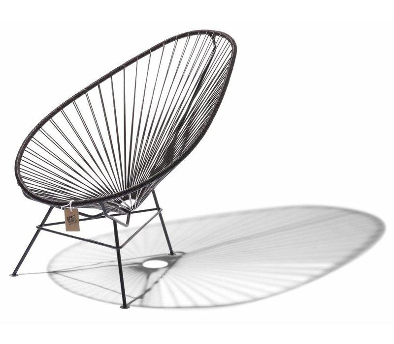 Acapulco Lounge Chair Black/Chocolate Brown
