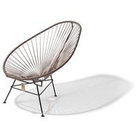 Acapulco Lounge Chair Black/Taupe Metallic