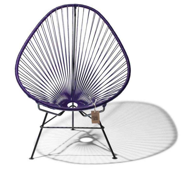 Acapulco Lounge Chair Black/Purple