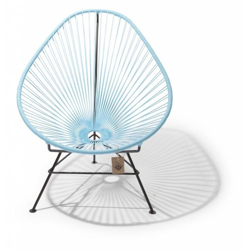 Acapulco Lounge Chair Black/Pastel Blue