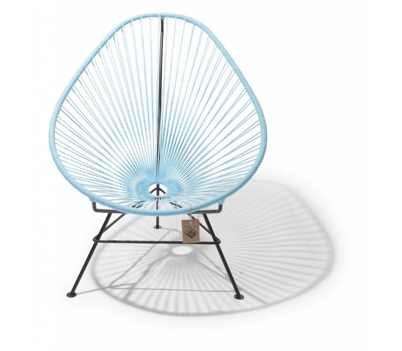 Acapulco Lounge Chair Black/Pastel Blue