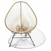 Acapulco Lounge Chair Black/Gold
