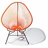 Silla Acapulco Acapulco Lounge Chair Black/Orange