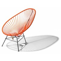 Acapulco Lounge Chair Black/Orange