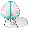 Silla Acapulco Acapulco Lounge Chair Multi Colour Black/Turquoise/Mexican Pink