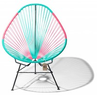 Acapulco Lounge Chair Multi Colour Black/Turquoise/Mexican Pink
