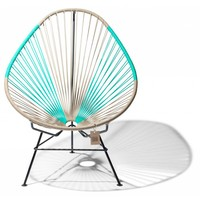 Acapulco Lounge Chair Multi Colour Black/Beige/Turquoise