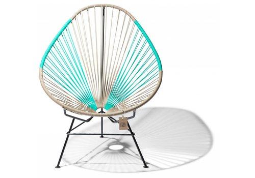 Silla Acapulco Acapulco Lounge Chair Multi Colour Black/Beige/Turquoise