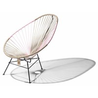 Acapulco Lounge Chair Multi Colour Black/Beige/Pink