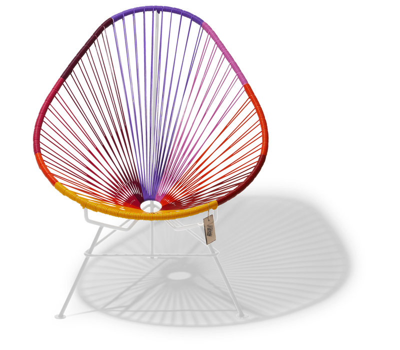 Acapulco Lounge Chair Multi Colour White/Sunset