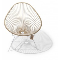 Acapulco Lounge Chair White/Beige
