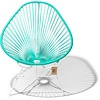 Silla Acapulco Acapulco Lounge Chair White/Turquoise