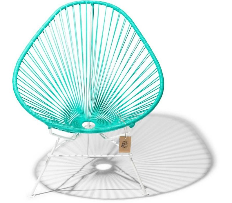 Acapulco Lounge Chair White/Turquoise