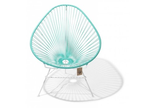 Silla Acapulco Acapulco Lounge Chair White/Light Turquoise