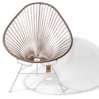 Acapulco Lounge Chair White/Taupe Metallic