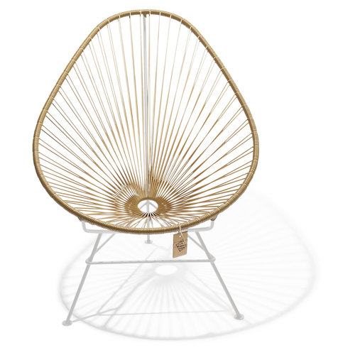 Acapulco Lounge Chair White/Gold