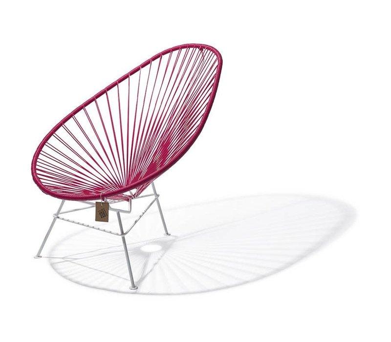 Acapulco Lounge Chair White/Bougainvillea