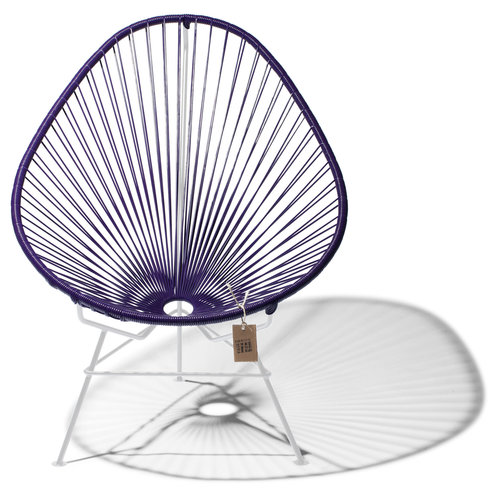 Acapulco Lounge Chair White/Purple