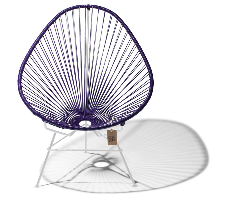 Acapulco Lounge Chair White/Purple