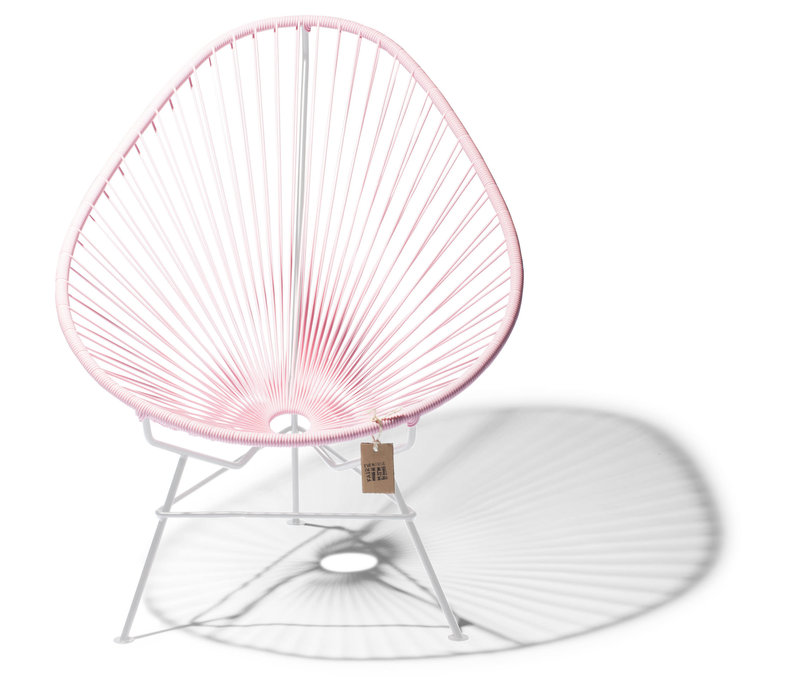 Acapulco Lounge Chair White/Pastel Pink