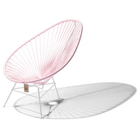 Acapulco Lounge Chair White/Pastel Pink