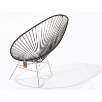 Acapulco Lounge Chair White/Chocolate Brown
