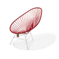 Acapulco Lounge Chair White/Red