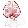 Silla Acapulco Acapulco Lounge Chair White/Red