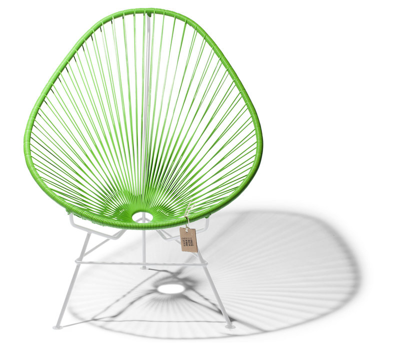Acapulco Lounge Chair White/Apple Green