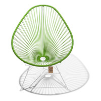 Acapulco Lounge Chair White/Olive Green