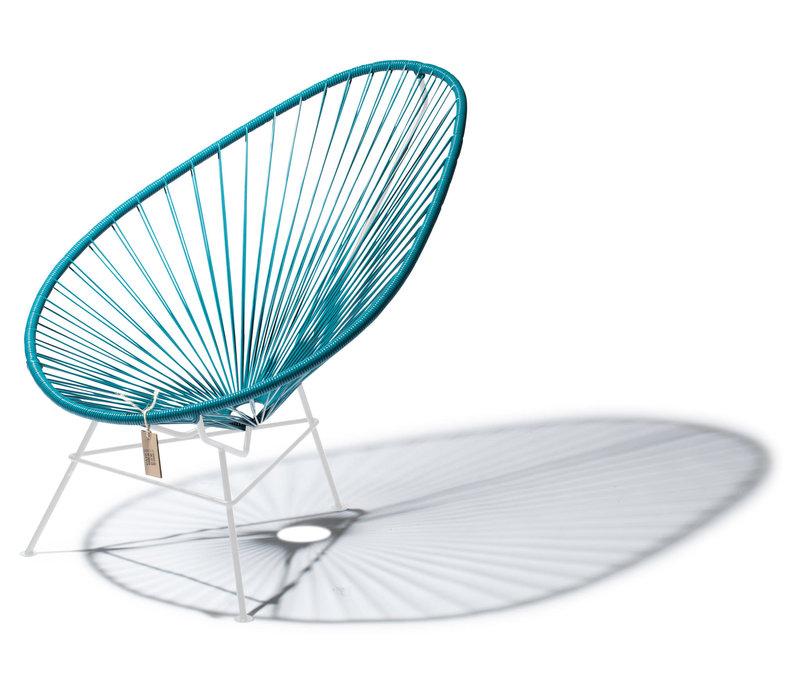 Acapulco Lounge Chair White/Petrol Blue