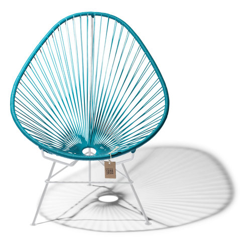 Acapulco Lounge Chair White/Petrol Blue