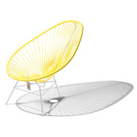 Acapulco Lounge Chair White/Canary Yellow