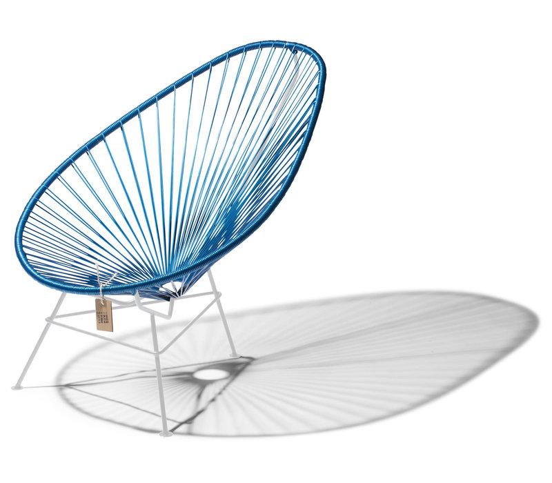 Acapulco Lounge Chair White/Cobalt Blue
