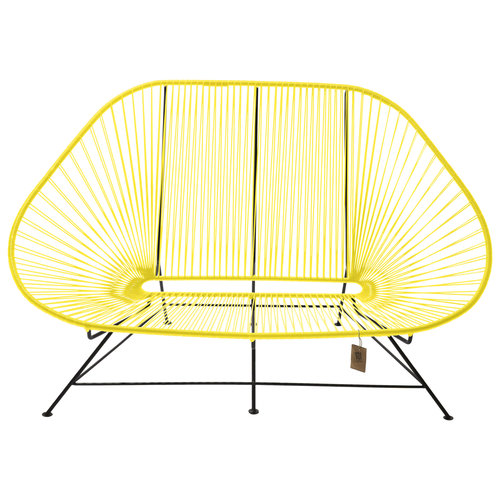 Acapulco Sofa Black/Canary Yellow