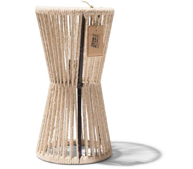 Totem Table Lamp Black/Hemp Rope