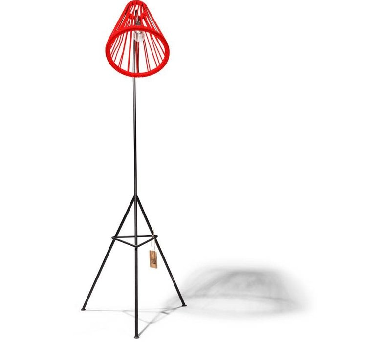 Kahlo Floor Lamp Black/Red