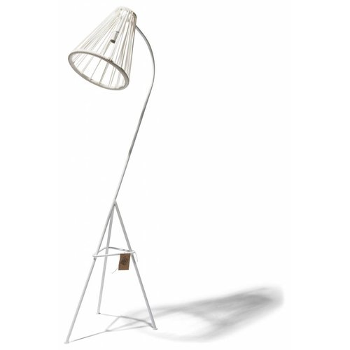 Kahlo Floor Lamp White/White